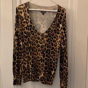 Express leopard print sweater
